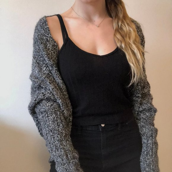 Le Chateau Long sleeve wool sweater cardigan